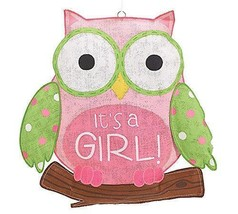 It's a Girl Pink Owl Burlap Wall Hanging - $27.98