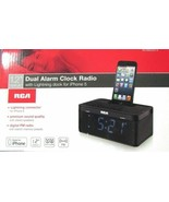 RCA Dual Alarm Clock Radio and IPhone Dock - $24.95