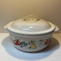 Corelle Coordinates Chutney Pattern 2 1/2 Quart Stoneware Casserole Dish & Lid - $14.84