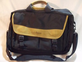 LL Bean Canvas & Leather Expandable Carry On Bag Briefcase FlightShoulde... - $45.69 CAD