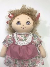 "Vintage 1990 Commonwealth Girl Doll 17"" Plush - $98.99"