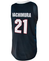 Rui Hachimura #21 College Custom Basketball Jersey Sewn Navy Blue  Any Size image 2