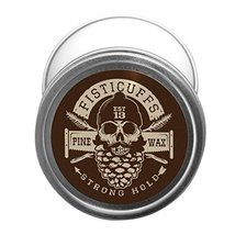 Fisticuffs Pine Scent Strong Hold Mustache Wax 1 Oz. Tin image 2