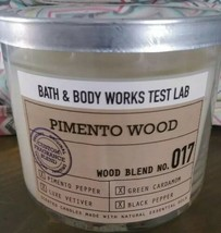 Bath & Body Works PIMENTO WOOD LAB TEST No 017 LARGE 3 WICK CANDLE 14.5O... - $21.08