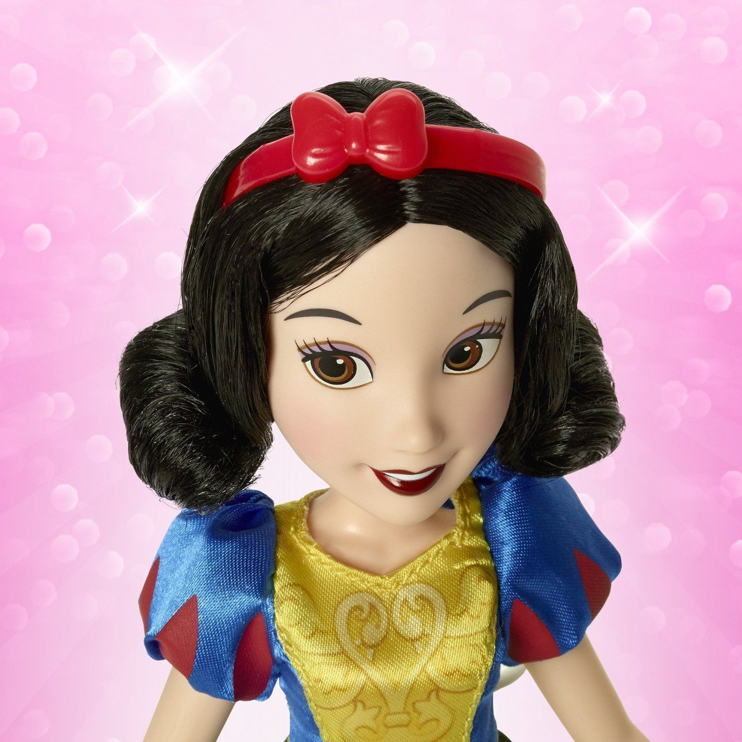 Image 3 of Disney Princess Snow White Magical Story Skirt Doll in Blue, Yellow by Hasbro