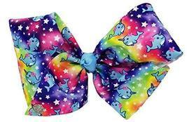 JoJo Siwa Signature Collection Hair Bow - Narwhals and Stars on Rainbow ... - €20,20 EUR