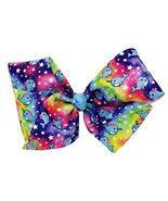 JoJo Siwa Signature Collection Hair Bow - Narwhals and Stars on Rainbow ... - £17.38 GBP