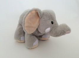 "Ganz WEBKINZ gray tan VELVETY ELEPHANT 9"" NO CODE plush stuffed animal toy - $6.79"