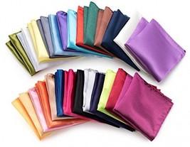 Farmunion Mens Pocket Square Handkerchief For Wedding Party, Solid Color... - $31.88