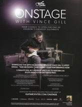 Vince Gill Onstage with Fender Stratocaster Guitar Center advertisement ... - $4.50