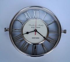 "12"" Wall clock brass nautical roman numeral wall home & office decor gif... - £76.39 GBP"