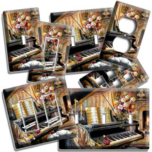 GRAND PIANO KEYS BEETHOVEN FLOWERS LIGHT SWITCH OUTLET PLATE MUSIC STUDI... - $9.99+