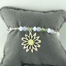 Swarovski White Daisy Beaded Charm Bracelet 1514799 Cert New in Box - $72.75