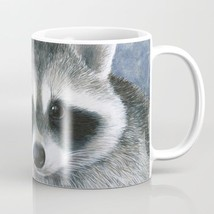 Coffee Mug Cup 11oz or 15oz Made in USA Raccoon 20 purple flower art by ... - $19.99+