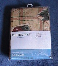 Mainstay Home vinyl flannel back tablecloth - Oblong - Fruit - $5.00