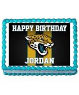 Jacksonville Jaguars Football Edible Cake Image Cake Topper - $8.98+