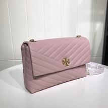 TORY BURCH KIRA CHEVRON FLAP SHOULDER BAG Pink Auhentic - $339.00