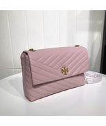 TORY BURCH KIRA CHEVRON FLAP SHOULDER BAG Pink Auhentic - $339.00