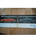 Vintage Mercury Montego 2 Page Print Magazine Advertisement 1971 - $5.99