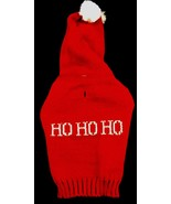 HO HO HO Hooded Ugly CHRISTMAS SWEATER Dog Puppy Pet Holiday Red XX Smal... - $9.89