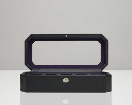 WOLF Windsor 5 Piece Watch Box with Cover (Black/Purple) Storage Case 458303 - $85.00