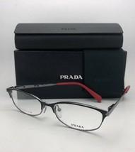 Nuevo Prada Gafas Vpr 63r 1bo-1o1 55-16 Negro Metalizado & Rojo Titanio
