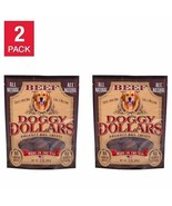 NEW Doggy Dollars Premium Beef Dog Treats 32 oz, 2-pack FREE SHIPPING - $64.99