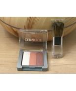 New Clinique Shimmering Stripes Powder Blusher in 01 PEONY & mini Blush ... - $15.83