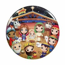 "Christ Is Born Round Kids Plate NEW BPA-Free Non-Toxic Durable Round 7 7/8"" - $8.88"