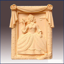 Southern Belle in Rose Frame, Detail of high relief sculpture,Silicone s... - $24.39