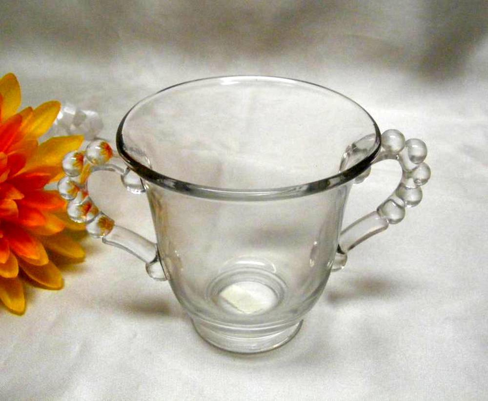 Primary image for 1695 Vintage Imperial Glass Candlewick Open Sugar