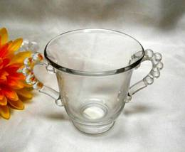 1695 Vintage Imperial Glass Candlewick Open Sugar - $7.00
