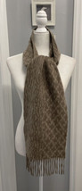 """Nordstrom 100% Cashmere Scarf Fringe Taupe Women's 72"""" x 10"""" Soft Cozy P... - $31.30"""
