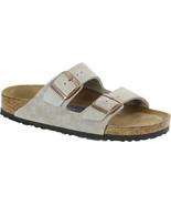 Birkenstock Women Arizona Soft Footbed Taupe Suede Narrow Fashion Sandal... - £94.19 GBP