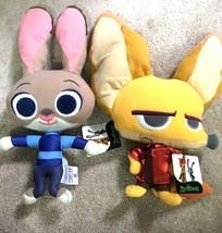 "Disney Collection Kids Plushy Zootopia Officer Judy Hopps & Finicky 14"" ... - $15.57"