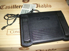 GRUNDIG Digta dictation foot pedal 538 3-prong works! - $28.74