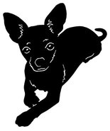 DOG - Lovely Chihuahua Car Styling Vinyl Sticker 5 x 6 inch Shipped from... - $5.89