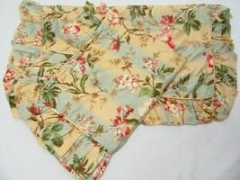 Waverly Amelia Antique Floral Stripe Ruffled Standard Pillow Shams (Set of 2) - $47.00