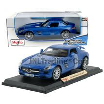 Maisto Special Edition 1:18 Die Cast Car Blue Roadster Mercedes Benz Sls Amg - $49.99
