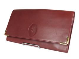 CARTIER Cartier Must De Bordeaux Leather Evening Clutch Bag CP0073 - $149.00