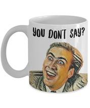 """Nicolas Cage Mug """"You Don't Say Nicolas Cage Meme"""" Funny Drawn Nicolas C... - $14.95"""