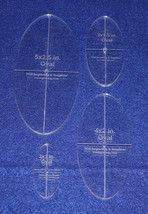 "4 Piece Quilt Ovals Templates 1/4 "" -2"", 3"", 4"", 5"" w/ Center Hole & Gui... - $27.99"