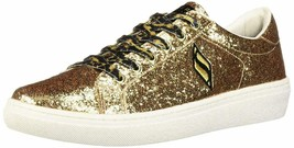 Skechers Women's Goldie-Smooth Crush Coated Glitter Leopard Lace Fashion Sneaker - $49.99