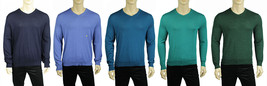NEW MENS CLUB ROOM V NECK PULLOVER MERINO WOOL BLEND KNIT SWEATER $75 - $19.79+