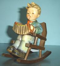 Hummel Goebel Practice Makes Perfect 771 Boy w/Accordion+Rocking Chair S... - $130.00