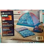 Kids 3 Pc Slumber Set, Indoor Tent Sleeping Bag Storage Duffel Bag Mermaids - $79.19