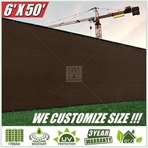 ColourTree 6' x 50' Brown Fence Privacy Screen Windscreen Cover Fabric S... - $56.63