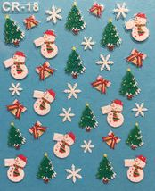 BANG STORE Nail Art 3D Stickers Glitter Decals Christmas Tree Snowflakes Bells - $3.68