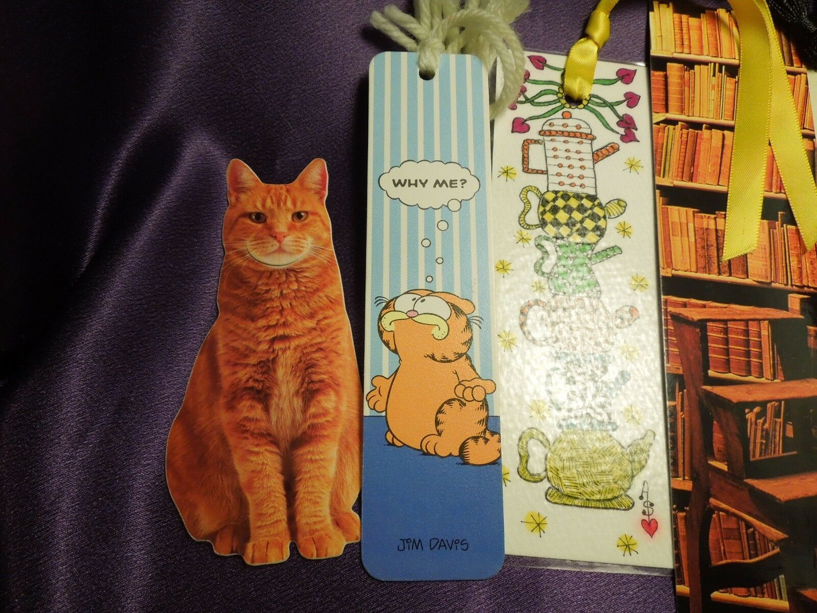 Lot of 7 Bookmarks Souvenir Istanbul Turkey Garfield Red Tabby Cat Handmade