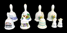 Nine  Porcelain Ceramic Bells State South Western Ellis Island & More - $23.99